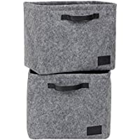South Shore Storit Gray Large Woven Felt Baskets, 2-Pack