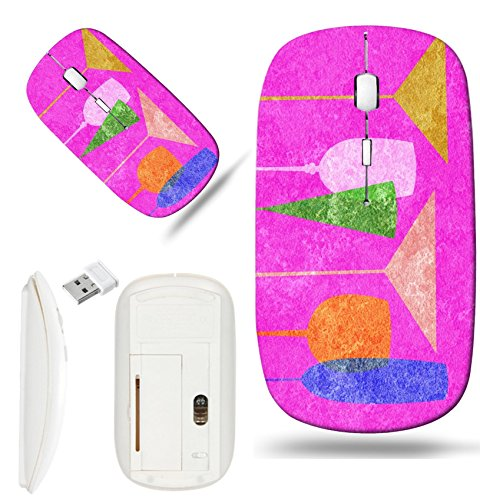 Luxlady Wireless Mouse White Base Travel 2.4G Wireless Mice with USB Receiver, 1000 DPI for notebook, pc, laptop, macdesign IMAGE ID: 23868975 Assorted stylized glasses for martini wine brandy etc (Assorted Brandy)