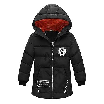 J-TUMIA Chaqueta de Abrigo para niños Abrigo de Invierno Acolchado para niño con Capucha