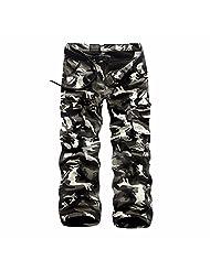 Men Military Combat Long Pants Camo Thicken Fleece Autumn Winter Pantalon Cargo
