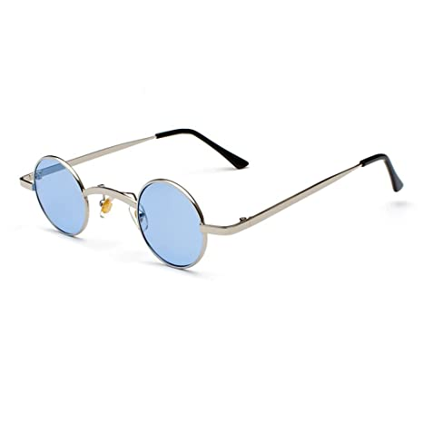 HUACANG Gafas de Sol Redondas de Lennon, Gafas de Sol Retro ...