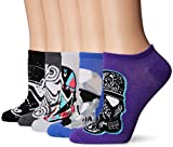 Star Wars Women's 5 Pack No Show, Assorted Purple, fits Sock Size 9-11 fits Shoe Size 4-10.5
