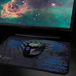 Extended Gaming Mouse Pad with High Precision eSports Tracking Surface and Anti-Fray Stitching for Dota 2 , League of Legends , World of Warcraft: Legion , Battlefield 1 and More - ENHANCE GX-MP4