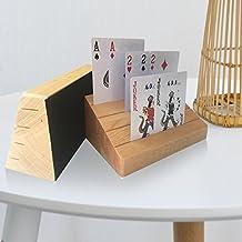 Uboo 2 set of Pine Wood Playing Card Holder/ Rack/ Organizer/ Stand