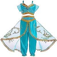 Atorcher - Disfraz de princesa, con lentejuelas, conjunto