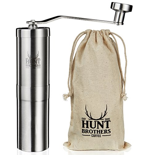 Hunt Brothers Coffee Grinder | Best Conical Burr for Precision Brewing | Upgraded Burr Piece | Top...