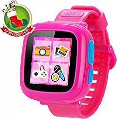 GBD Game Smart Watch for Kids Children Boys Girls with Camera 1.5'' Touch 10 Games Pedometer Timer Alarm Clock Christmas Learning Toys Gifts Wrist Watch Health Monitor (001CutePink)