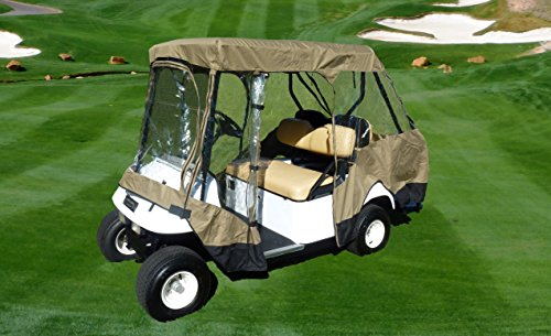 Premium Tight Weave Golf Cart Driving Enclosure for 4 seater with 2 seater roof up to 58'' by Formosa Covers (Image #5)