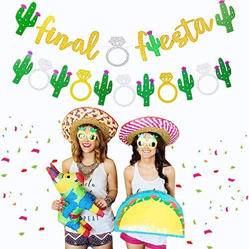 Set of 2 JeVenis Glittery Final Fiesta Banner