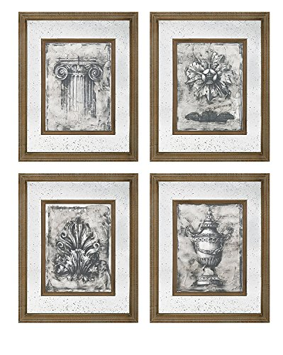 4-Pc Cordele Mirror Wall Decor Set - glass wall decorations