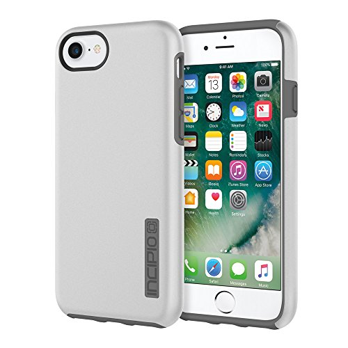 ne 8 & iPhone 7/6/6s Case with Shock-Absorbing Inner Core & Protective Outer Shell for iPhone 8 & iPhone 7/6/6s - Iridescent Silver/Charcoal ()
