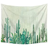 Chengsan Landscape Tapestry Watercolor Headboard, Cactus Wall Tapestry Mandala Tapestry Bohemian Tapestry Cactus Tapestry Indian Wall Decor Hippie Tapestry Headboard Home Decor(3, 59x78 inch)