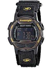 Womens 10017013 Predator Digital Display Japanese Quartz Black Watch