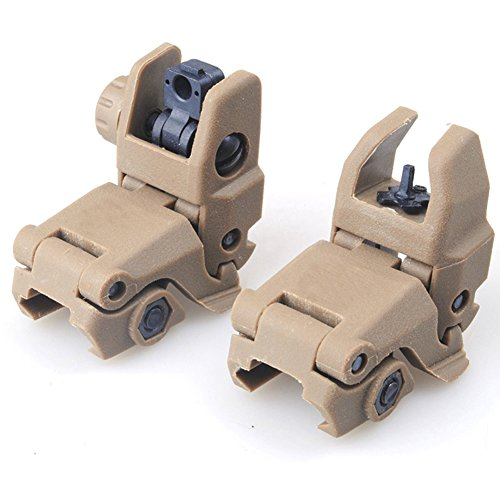 - Wynex MBUS Front & Rear Flip Up Backup Sights BUIS Back-up Polymer Sight