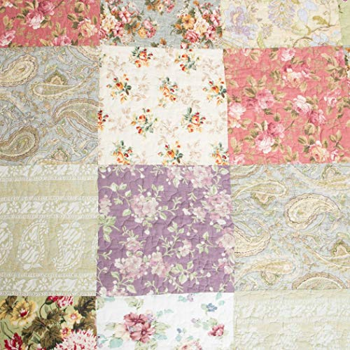 Get Blooming Prairie King Size 3 Piece Quilt Set Multi
