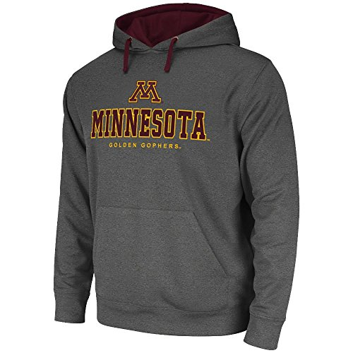Mens NCAA Minnesota Golden Gophers Pull-over Hoodie (Heather Charcoal) - L