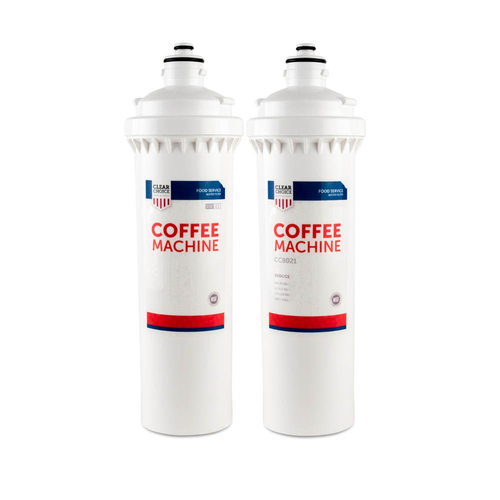 Follett 130245 954297 FL4S Nu Calgon 4621-12 Tea Filtration System Replacement Cartridge for Everpure BH2 EV9612-50 Also Compatible with Pentair BH2 EV9612-50 2-Pack Clear Choice Coffee