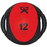 CanDo Dual Handle Medicine Balls, 12 lb, Red For Sale