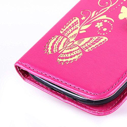Sunroyal®Funda de PU Cuero Galaxy S3/S3 Neo Resistente, Ultra Slim PU Cuero Folding Stand Flip Funda Carcasa Caso Samsung Galaxy S3/S3 Neo GT-I9300 de 4.8 Pulgadas Leather Case Wallet Protector Card H B-15
