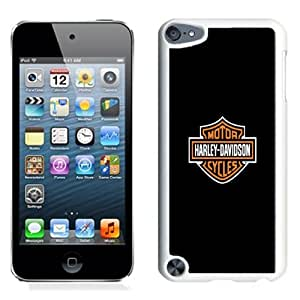 Lovely and Durable Cell Phone Case Design with Harley Davidson iPod Touch 5 Wallpaper in White