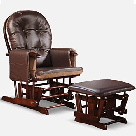 Awe Inspiring Reclining Glider And Footstool With Padded Bench Nursing Pabps2019 Chair Design Images Pabps2019Com