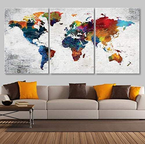 Amazon.com: Map for Wall Canvas Print Large Wall Art for