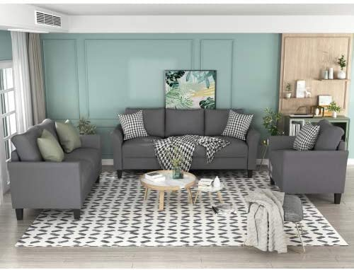 Alapaste 3 Piece Sofa Couch Set for Living Room,Sectional...