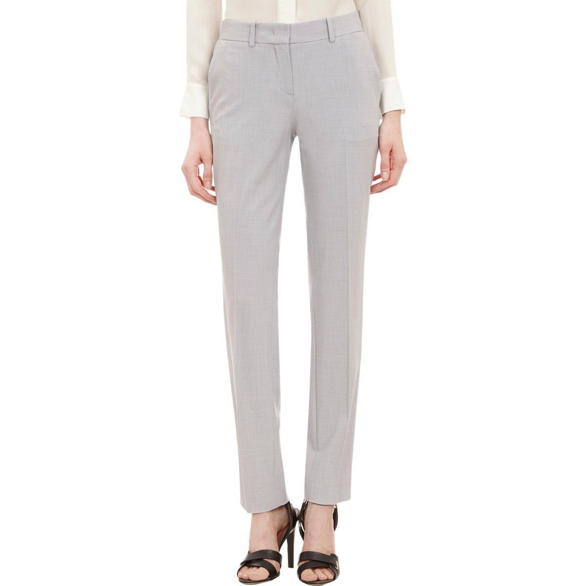 Theory Super Slim Pants, Light Heather, 0