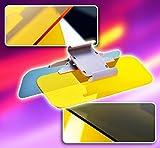 Zone Tech Day and Night Anti-Glare Car Windshield Visor - Premium Quality Universal Sunshade and Night Vision Anti-Dazzle Windshield Driving Visor