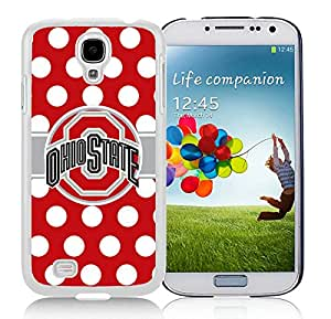 Ohio State Buckeyes White Samsung Galaxy S4 I9500 Screen Cover Case Beautiful and Cool Look