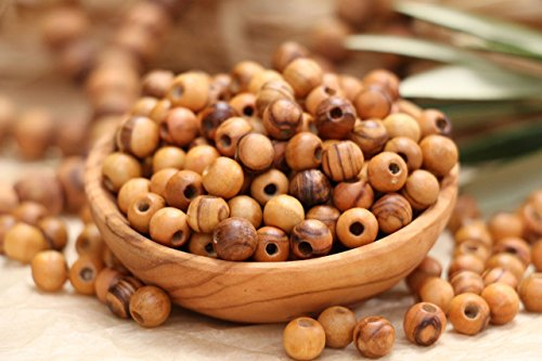 500 ~ Olive Wood Beads Holy Land Bethlehem Jerusalem Rosary Bracelet Necklace (8mm)