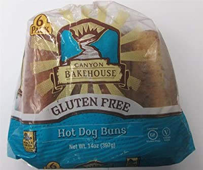Canyon Bakehouse Gluten Free Hot Dog Buns 14oz (Pack of 3)