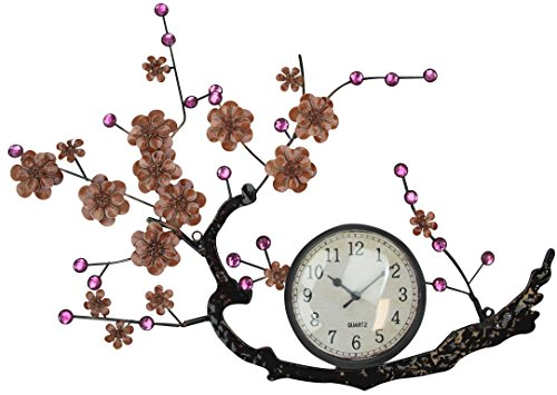 Lulu Decor, Hanging Branch Wall Clock, Fram Size 21