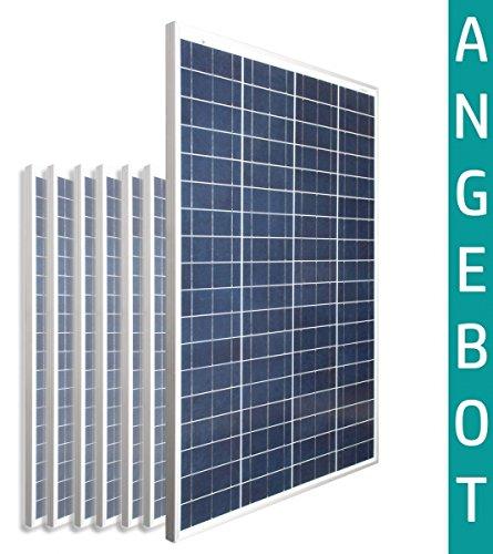 10X - 100W Watt Solarmodul Polykristallin 12V Volt 24V Solarpanel Busbar Upgrade Camping Solar-Poly - solarXXL