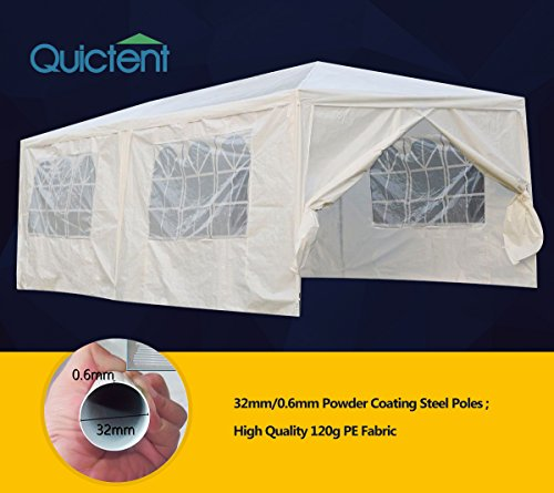 (Quictent 10' X 20' Party Wedding Tent Gazebo Canopy with 6 Removable Side Walls)