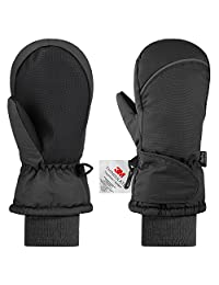 Ski Mittens,Fazitrip Girls/Boys Windproof Waterproof Winter Gloves with 3M Thinsulate Insulation,Idea for Winter Sports …
