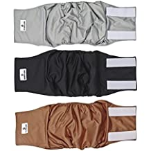 Pet Parents Premium Washable Dog Belly Band (3pack) Male Dog Diapers, Color: Natural, Size: XSmall Dog Wraps