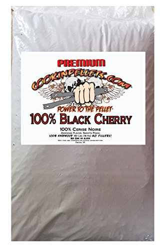 CookinPellets CPBC40lb 100% Black Cherry Pellets Cooking, Brown