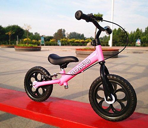 12 inchs Balance Bike Treadless Children's Road Bicycles Scooter Free wh Sleigh Baby Walker Bicman (Pink)