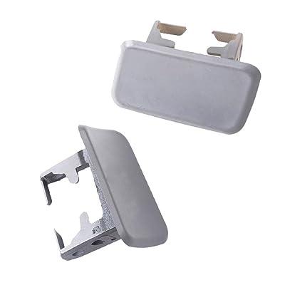Headlight Washer Nozzle Cap Cover 1 Pair Left and Right Fit For BMW X3 E83 04-10 Washer Cover Nozzle Cap 61673416175 61673416176: Automotive