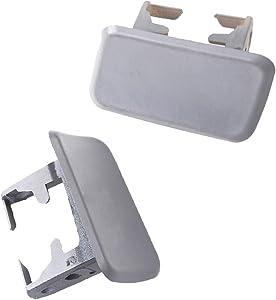 Headlight Washer Nozzle Cap Cover 1 Pair Left and Right Fit For BMW X3 E83 04-10 Washer Cover Nozzle Cap 61673416175 61673416176