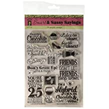 Hot Off The Press Acrylic Stamps in 6-Inch by 8-Inch Sheet, Smart and Sassy Sayings