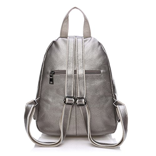 SUXCGE, Borsa a zainetto donna Taglia unica Silver Grey 3044