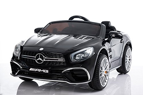 Ride 2 Infant Car Seat (Mercedes Benz Ride On Car, 12V Licensed Kids Electric/Battery Power Toy RC Car with Radio, Remote, MP3, LED Lights, Auto Safety Break - For Children 3-6 Years – Black)