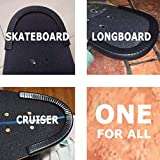 SENSIVO Skateboard Deck Guards Protector, Excellent Edge Protection, Longboard, Boosted Board Nose Guard and Tail Guard, Durable Shock Absorbing Rubber Cover, Rubber Strip(Pack of