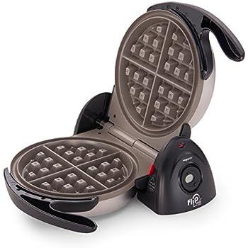 Presto 03510 FlipSide Belgian Waffle Maker with Ceramic Nonstick Finish, 7-Inch, Black