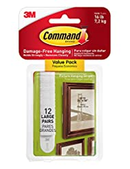 Command Picture & Frame Hanging Strips Value Pack, Large, Whi...