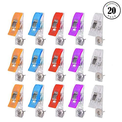 Feeko Clips de Pasador a presión, 20 Clips de Papel creativos para Cabeza de Foto, con Tabla de Corcho y Agujas para Pared...