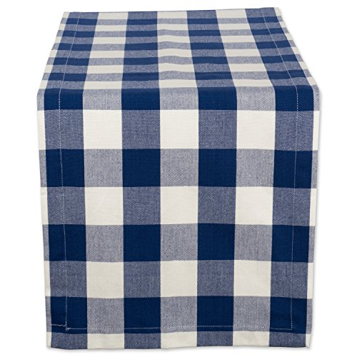DII Cotton Buffalo Check Table Runner for Family Dinners or Gatherings, Indoor or Outdoor Parties, & Everyday Use (14x72