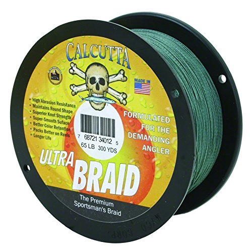Calcutta Ultra 300 Yards Braid Line (65-Pounds, Green)